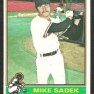 1976 Topps Baseball Card # 234 San Francisco Giants Mike Sadek vg