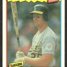 OAKLAND ATHLETICS MARK McGWIRE 1987 FLEER BASEBALLS BEST # 26