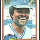 Kansas City Royals Hal McRae 1981 Topps Baseball Card # 295 nr mt