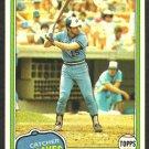 Atlanta Braves Bill Nahorodny 1981 Topps Baseball Card # 296 nr mt