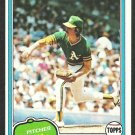 Oakland Athletics Matt Keough 1981 Topps Baseball Card # 301 nr mt
