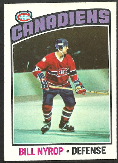 MONTREAL CANADIENS BILL NYROP 1976 TOPPS # 188 ex/em