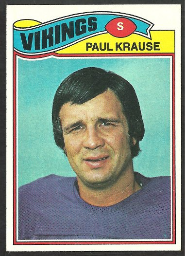 MINNESOTA VIKINGS PAUL KRAUSE 1977 TOPPS # 125 VG
