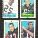 1969 Topps 4 in 1 Atlanta Falcons Team Lot Tommy Nobis Randy Johnson Jerry Simmons Nick Rassa