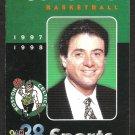 Boston Celtics 1997 Pocket Schedule Rick Pitino Bob Cousy Tom Heinsohn Jerry Seinfeld
