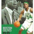 BOSTON CELTICS 2004 - 2005 POCKET SCHEDULE PURE BASKETBALL PAUL PIERCE DOC RIVERS Ricky Davis