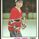 MONTREAL CANADIENS JACQUES LEMAIRE 1977 TOPPS # 254 EX