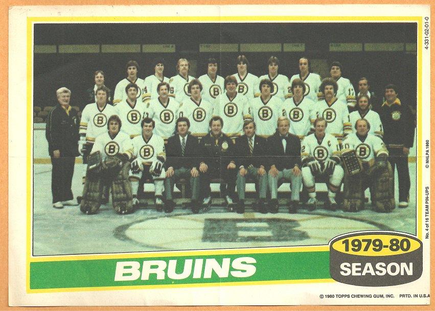 BOSTON BRUINS 1980 TOPPS TEAM PHOTO INSERT