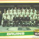 BOSTON BRUINS 1980 TOPPS TEAM PHOTO INSERT