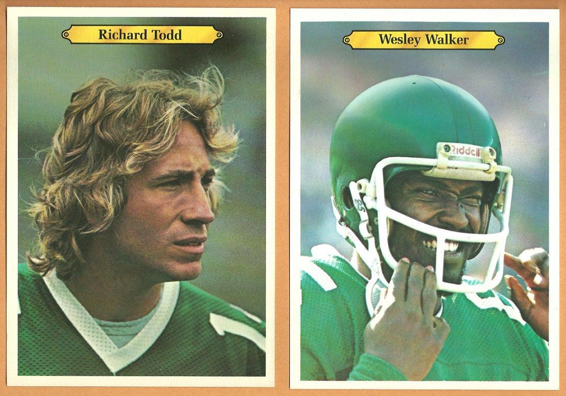 NEW YORK JETS # 6 RICHARD TODD # 5 WESLEY WALKER 1980 TOPPS WHITEBACK