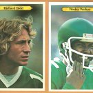 NEW YORK JETS # 6 RICHARD TODD # 5 WESLEY WALKER 1980 TOPPS WHITEBACK