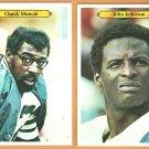 SAN DIEGO CHARGERS # 18 JOHN JEFFERSON # 21 CHUCK MUNCIE 1980 TOPPS WHITEBACK