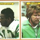 PHILADELPHIA EAGLES # 22 RON JAWORSKI # 4 HAROLD CARMICHAEL 1980 TOPPS SUPER