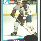 BUFFALO SABRES ROB McCLANAHAN ROOKIE CARD 80/81 TOPPS # 232 NM