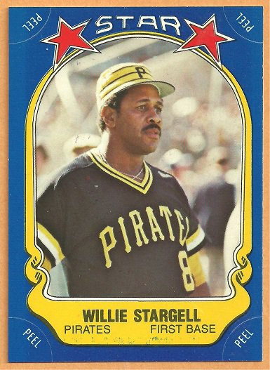 PITTSBURGH PIRATES WILLIE STARGELL 1981 FLEER STCKR CARD #15