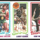 1980 TOPPS # 231 SONICS LONNIE SHELTON # 205 SPURS LARRY KENON # 203 BLAZERS KERMIT WASHINGTON