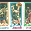 80/81 TOPPS # 95 WARRIORS COOPER 226 SONICS JOHNSON 45 BULLS GREENWOOD