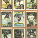 Boston Bruins 1984 OPC Team Lot 20 Ray Bourque O'Reilly Middleton Linseman Milbury Simmer