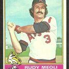 California Angels Rudy Meoli 1976 Topps Baseball Card # 254 vg
