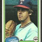 Texas Rangers Ken Clay 1981 Topps Baseball Card # 305 nm