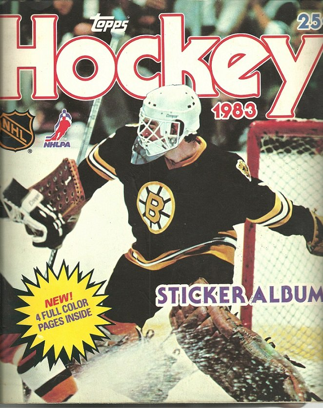 1983 TOPPS STAMP ALBUM 215 STAMPS WAYNE GRETZKY BOSTON BRUINS PETE PEETERS