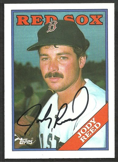 BOSTON RED SOX JODY REED AUTOGRAPHED ROOKIE CARD 1988 TOPPS #152