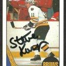 BOSTON BRUINS STEVE KASPER AUTOGRAPHED 1987 TOPPS # 162