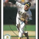 OAKLAND ATHLETICS JIM CORSI AUTOGRAPHED 1990 UPPER DECK # 521