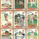 BOSTON RED SOX 1988 FLEER TEAM SET (25) ROGER CLEMENS WADE BOGGS +