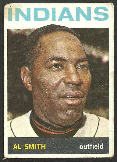 CLEVELAND INDIANS AL SMITH 1964 TOPPS # 317 good