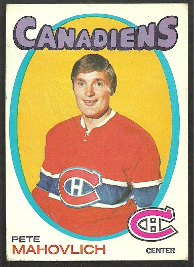 MONTREAL CANADIENS PETER MAHOVLICH 1971 TOPPS # 84 VG