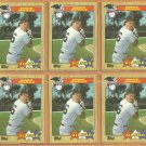 Boston Red Sox Wade Boggs All Star 6 Card Lot 1987 Topps # 608