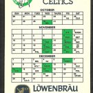 Boston Celtics Lowenbrau Beer 1985 Pocket Schedule