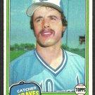 Atlanta Braves Biff Pocoroba 1981 Topps Baseball Card # 326 nr mt