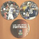 Indianapolis Colts Peyton Manning 2 diff Direct TV Sunday Ticket Coasters