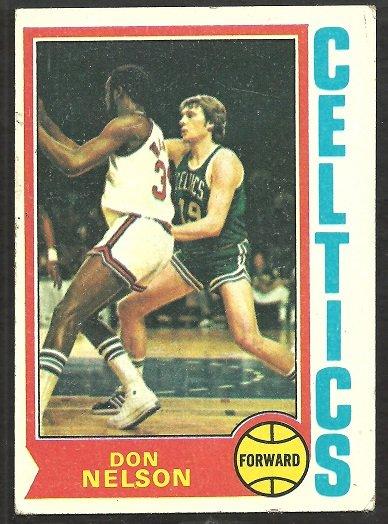BOSTON CELTICS DON NELSON 1974 TOPPS # 46 VG
