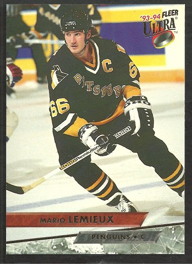 PITTSBURGH PENGUINS MARIO LEMIEUX 1993 FLEER ULTRA # 116
