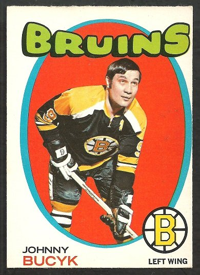 BOSTON BRUINS JOHNNY BUCYK 1971 OPC O PEE CHEE # 35 ex/em
