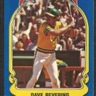 1981 FLEER STAR STICKER CARD # 4 OAKLAND ATHLETICS DAVE REVERING