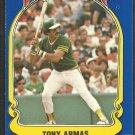 1981 FLEER STAR STICKER CARD # 5 OAKLAND ATHLETICS TONY ARMAS