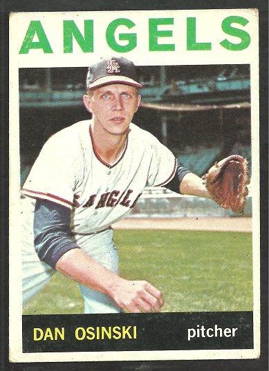 LOS ANGELES ANGELS DAN OSINSKI 1964 TOPPS # 537 VG/EX