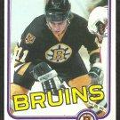 Boston Bruins Steve Kasper RC Rookie Card 1981 Topps Hockey Card # 168 nr mt