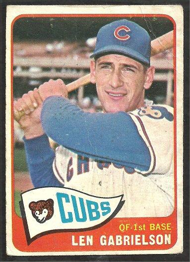 CHICAGO CUBS LEN GABRIELSON 1965 TOPPS # 14 good