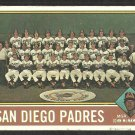 San Diego Padres Team Card 1976 Topps Baseball Card # 331 vg partially marked cl