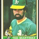 Oakland Athletics Ted Martinez 1976 Topps Baseball Card # 356 vg