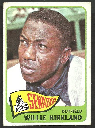 WASHINGTON SENATORS WILLIE KIRKLAND 1965 TOPPS # 148 vg/ex