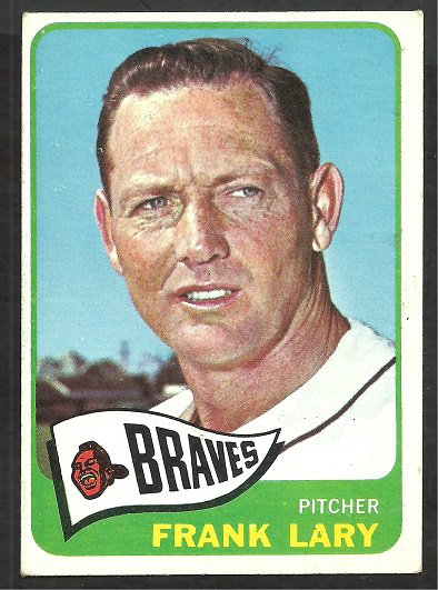 MILWAUKEE BRAVES FRANK LARY 1965 TOPPS # 127  EX