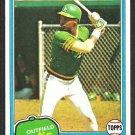 Oakland Athletics Dwayne Murphy 1981 Topps Baseball Card # 341 nr mt