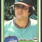Texas Rangers John Ellis 1981 Topps Baseball Card # 339 nr mt