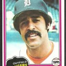 Detroit Tigers Lynn Jones 1981 Topps Baseball Card # 337 nr mt